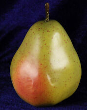 Faux fruit large pear 4  inches tall decorative item display item