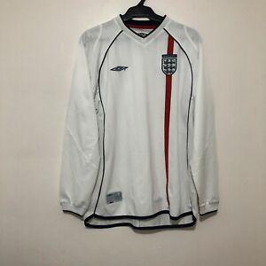 VINTAGE UMBRO ENGLAND 2001-2002 AWAY SHIRT.