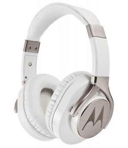 Motorola Pulse Max - Weiß - Bass Stereo Kopfhörer Headset + Mikrofon 4cm
