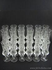 Servizio di bicchieri vecchi,lotto di bicchieri antichi in cristallo molato a245