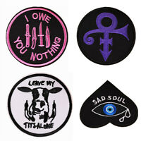 Embroidered Sew On Iron On Patch Badge Bag Clothes Applique Fabric DIY Craft