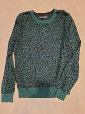 Banana Republic Nwt green metallic animal leopard print sweater M