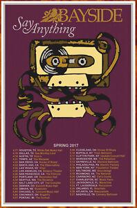 SAY ANYTHING   BAYSIDE Tour 2017 Ltd Ed RARE Tour Poster +BONUS Punk Rock Poster