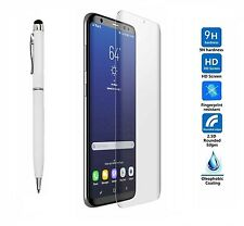 Samsung Galaxy S8 Plus S8+ 3D CURVED CLEAR Glass Screen Protector + Stylus Pen