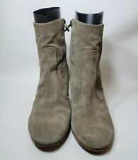 ALBERTO FERMANI Suede Leather Zip Ankle Boot Booties size EU 40