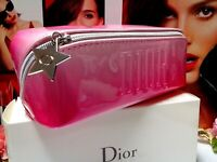 "Dior Makeup Bag✰☾Red Gradient Glossy Cosmetic Bag☽✰"" Lucky Star ""~☾"" WITH BOX ""☽"