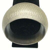 Artisan Wavy Design Metal Wide Bangle Bracelet, PewterTone & Gold Metallic