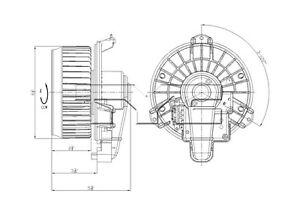 New Blower Motor With Wheel TYC 700215