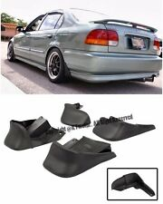 For 96-00 Honda Civic EK JDM Factory Front Rear 4 Pcs BK Mud Flaps Splash Guards