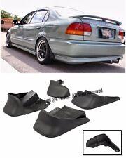 For 96-00 Honda Civic EK JDM Factory Front Rear 4 Pcs BK Mud Flaps Splash Guards