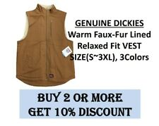 Dickies Mens Warm Faux-Fur Lined Relaxed Fit VEST S~3XL, 3COLORS