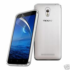 Tough Thin Clear TPU Gel Case Cover & Screen Guard for Oppo Find 7