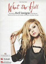 Avril Lavigne What The Hell Us Hoja Música
