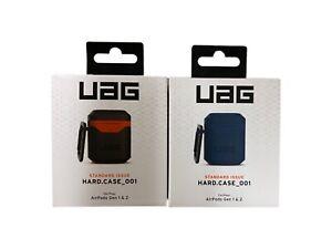 UAG  Silicone Apple AirPods Gen 1 & 2 Hard case- Mallard Blue - Black/Orange
