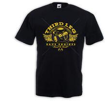 Hot Rod T-Shirt Third Leg V8 Motor Engine US Car  Rockabilly Tattoo Pinup Rat