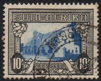 South Africa 1933 Local Motifs 10/- Superb Unmounted USED Stamp insc SUID AFRIKA