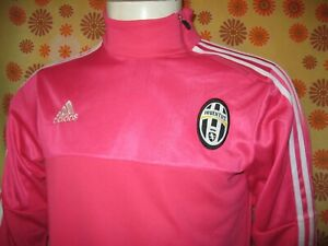 Ancien SWEAT SHIRT ADIDAS JUVENTUS TURIN ROSE TM Maillot Calcio Maglia Juve Foot