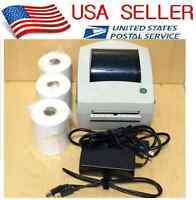 Zebra LP2844 LP 2844 Thermal Label Barcode Printer with Cable 750 4x6 labels