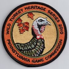 """Pa Pennsylvania Game Commission Wild Turkey Heritage Series 2010 4"""" Jake Patch"""