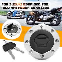 Fuel Gas Tank Cap Cover Lock 2 Key For Suzuki GSXR 600 750 1000 SV650 SV1000