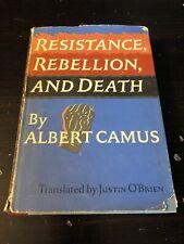 Resistance, Rebellion, And Death by Albert Camus 1961 Third Printing Hardback