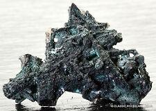 Tsumeb Minerals Brochantite on Cerussite Mineralien Cerussit 27 x 18.8 x 5.8 mm