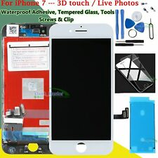 For iPhone 7 7G LCD Touch Screen Digitizer Display White  + Waterproof Adhesive