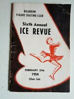 Brandon Manitoba Figure Skating Club Ice Revue 1954 with Eaton's Ads Vintage