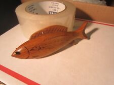 DICK DON TRUDELL  ICE  FISHING SPEARING DECOY CONTEMPORARY XMAS ORNAMENT 1990 A7