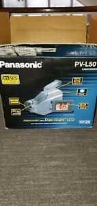 Panasonic Palmcorder PV-L501D VHS-C Camcorder Charger 5 tape & Battery, Tested