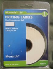 Monarch Easy-Load 1131 One-Line Pricemarker Labels, White, 2500/Pack (Mnk925074)