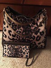 Beautiful COACH 25209 Madison Ocelot Phoebe large shoulder Bag And Wallet Set ❤