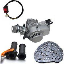 49cc 2 stroke Engine Motor Mini PIT Quad Dirt Bike Pocket ATV T8F Chain Grip Kit