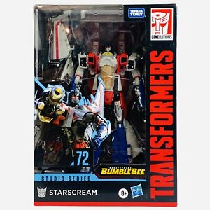 Transformers Studio Series 72 STARSCREAM Voyager Class Bumblebee Hasbro Figure