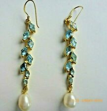 Topaz & Pearl earrings