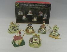 6 Liberty Falls Christmas Tree Ornaments Fire Opera Mill Tavern Church Store