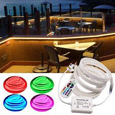 240V RGB LED Neon Flex Light Strip Rope Band Sign Multi Color Illuminated Tube