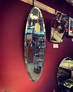 1930's Art Deco Oval Mirror