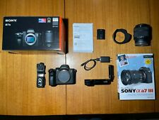 mint Sony Alpha A7 III 24.2MP Digital Camera with lens and extras