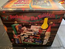 NEW ENESCO BOOKED FOR THE HOLIDAYS Multi-Action/Light Music Box NIB-Sealed