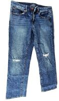 AMERICAN EAGLE Women's 6R Jean Pants Distressed Denim Stretch Jeans Boy Fit (F)