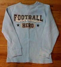 CRAZY 8 Football Hero Blue Applique Thermal Shirt Top Boys Small 5 6
