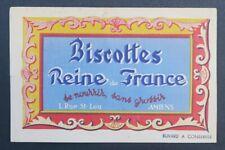 Buvard BISCOTTES REINE DE FRANCE AMIENS blotter 2