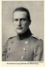 1914 Generaloberst Herzog Albrecht von Württemberg *  WW1