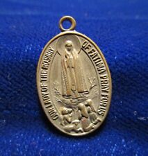 Our Lady of the Rosary of Fatima/St Jude Medal Silvertone