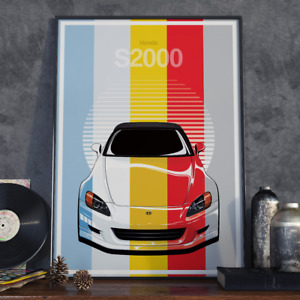 Honda S2000 AP1 JDM Art Poster 17x24 inch size (Choose your colour)