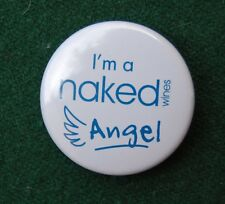 Naked Wines Angel Pin Badge - Alcoholic Drink Advertising