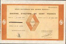 1/10è d'action: Régie Nationale des Usines RENAULT (R)