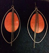 Target Stone Oval/Hoop Earrings (Brand New!)