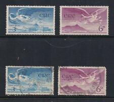 2 SETS OF IRELAND AIR MAIL STAMPS SCOTT #C2 & C3 MNH AND #C2 & #C3 USED